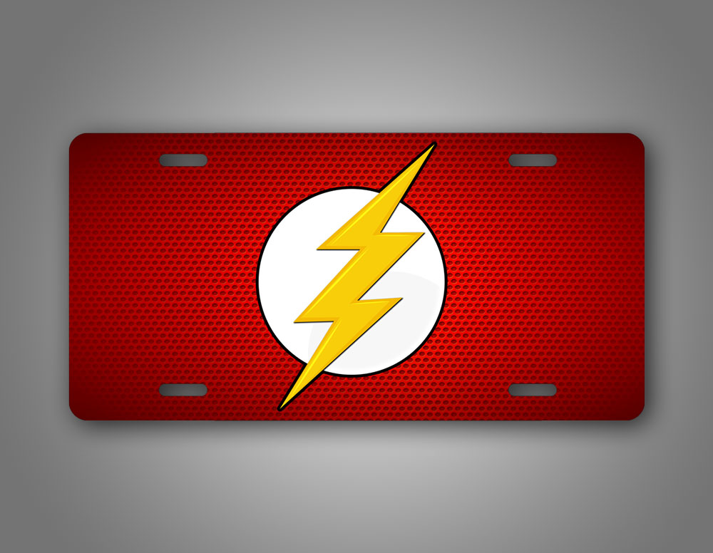 DC Flash Comic Book Red License Plate Barry Allen Auto Tag
