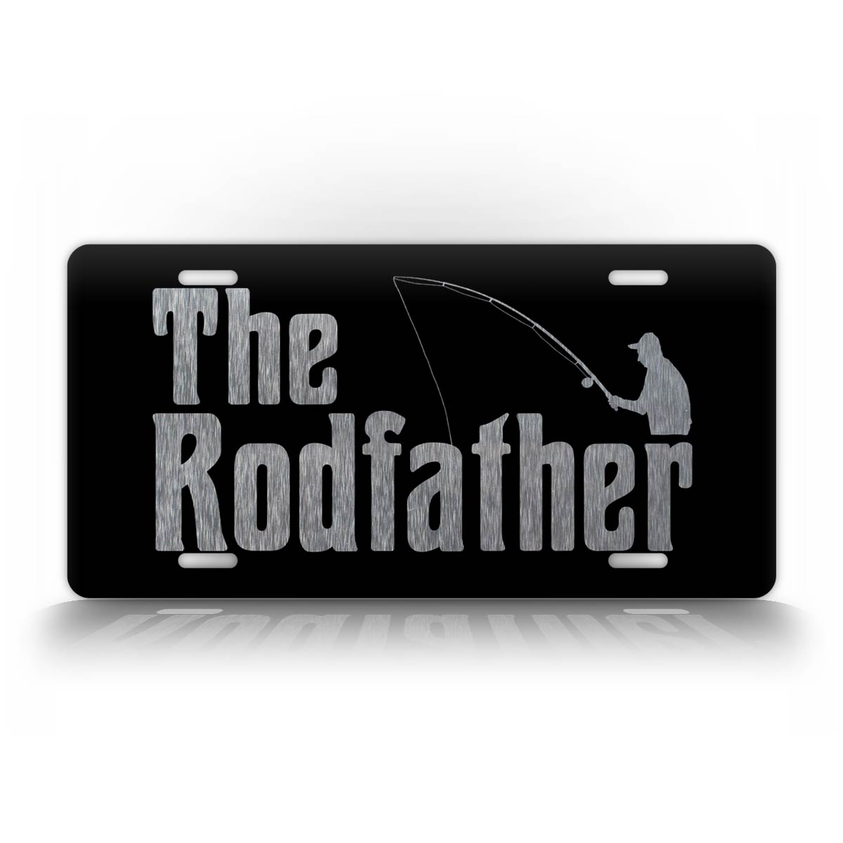 The Rod Father Old Man Fishing License Plate