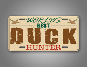 Worlds Best Duck hunter Funny Hunting Car Auto Tag