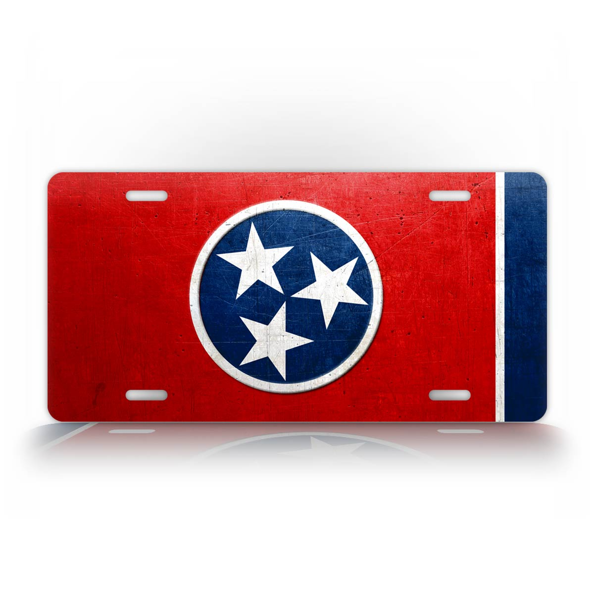 Weathered Tennessee State Flag License Plate