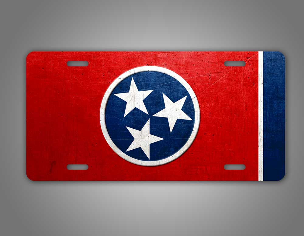 Weathered Tennessee State Flag Auto Tag