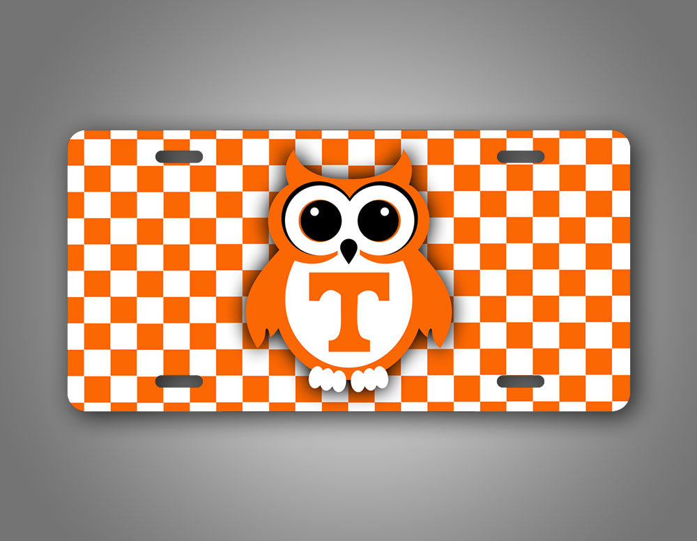 Tennessee State Volunteers Cute Owl Football Auto Tag