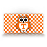 Tennessee State Volunteers Cute Owl Football License Plate