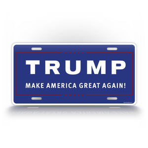 MEGA Bold Blue Make America Great Again License Plate