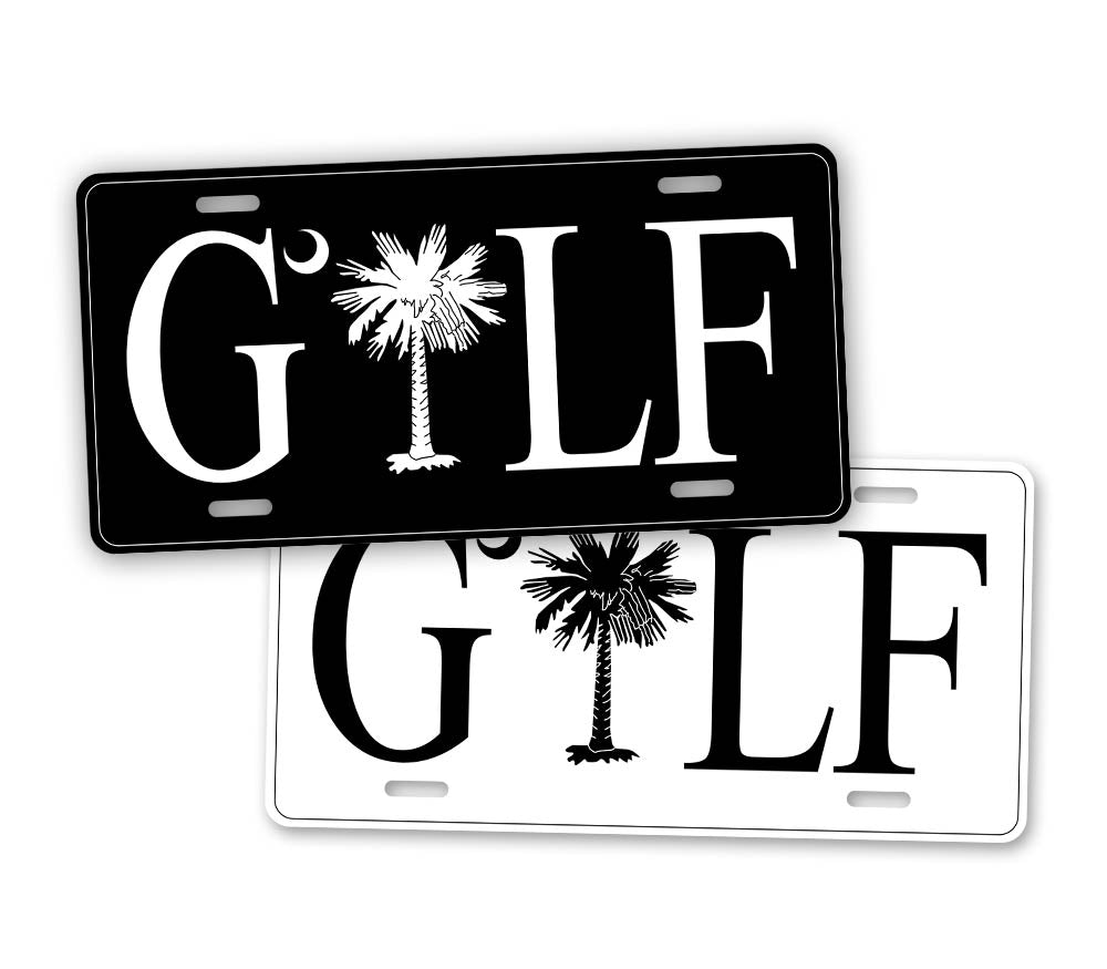 Palmetto Tree Golf License Plate