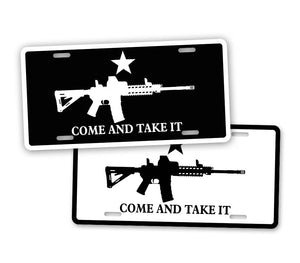 Black And White Come And Take It Tactical Auto Tag