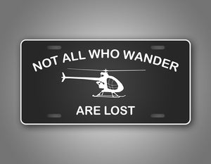 Not All Who Wonder Are Lost Ultralight Helicopter Pilot Auto Tag