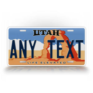 Personalized Utah State Custom License Plate