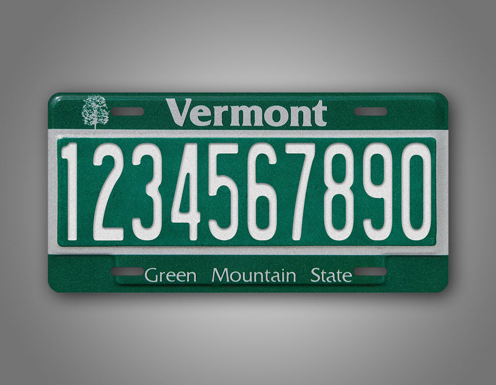 Personalized Vermont Green Mountain State License Plate
