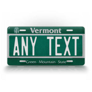 Personalized Any Text Vermont Novelty License Plate
