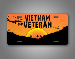 Vietnam Veteran Combat Wounded License Plate