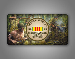 Vietnam Veterans License Plate Once Strangers Forever Brothers Auto Tag