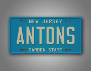 Personalized Any Text New Jersey Auto Tag