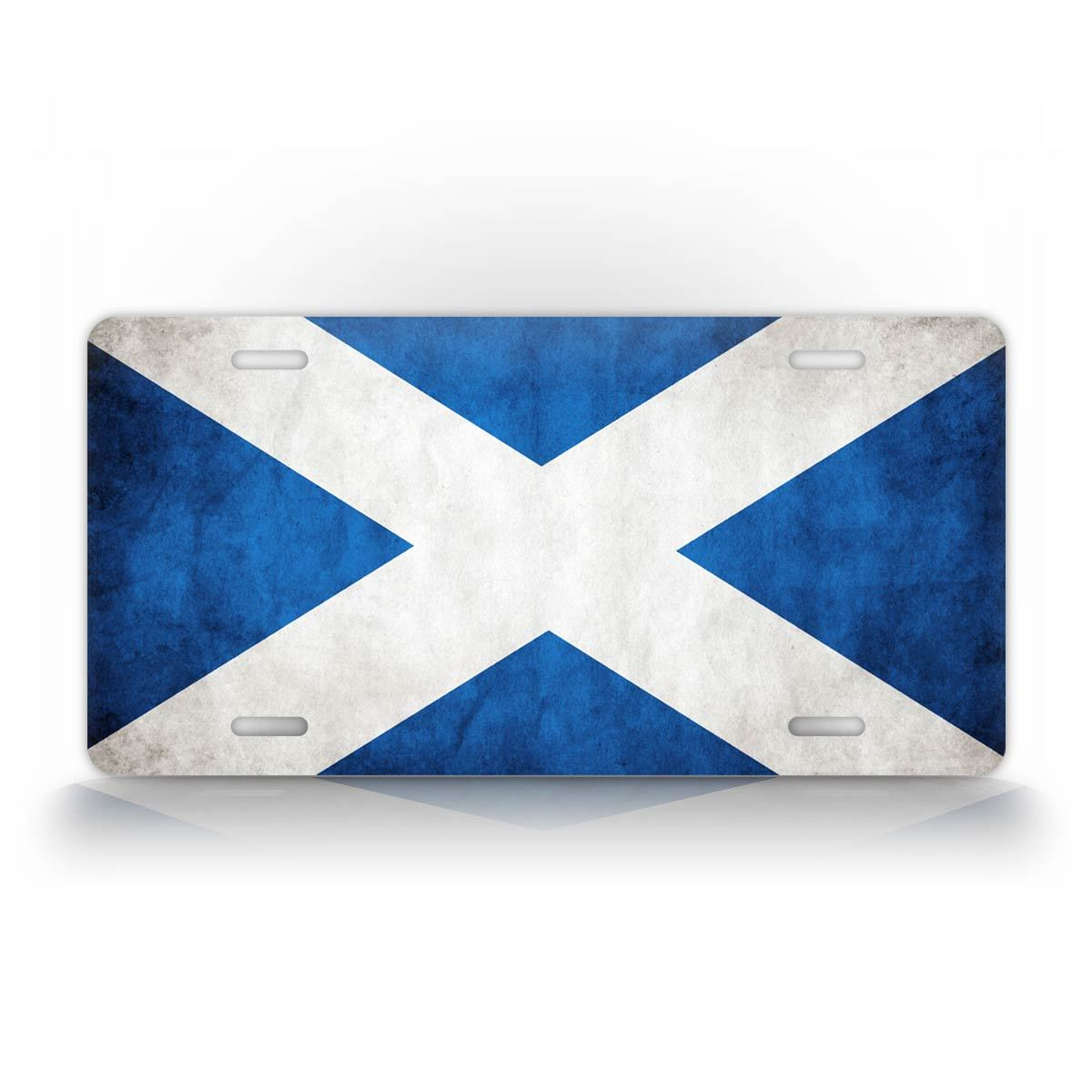 Rustic Scottish Flag License Plate Scottland Flag Auto Tag