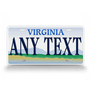 Personalized Scenic Virginia State License Plate