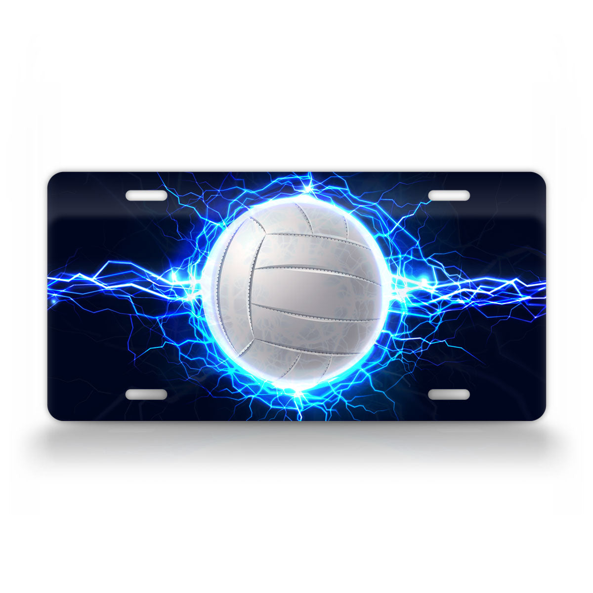 Cool Volleyball Lighting License Plate