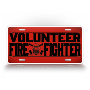 Volunteer Fire Fighter License Plate