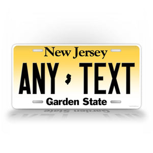 Custom New Jersey Auto Tag