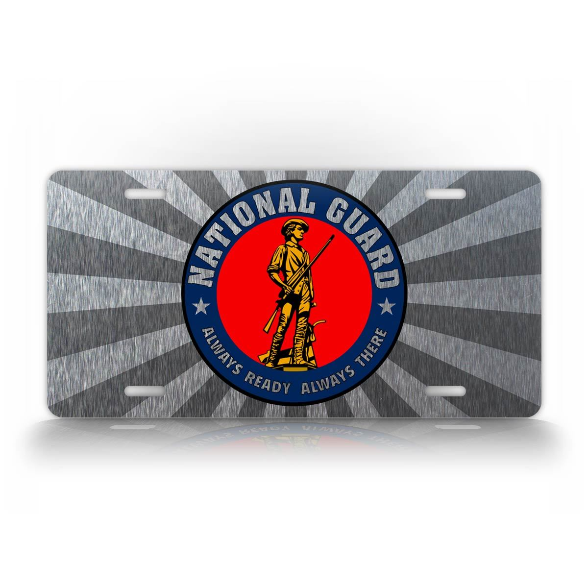 National Guard Silver License Plate