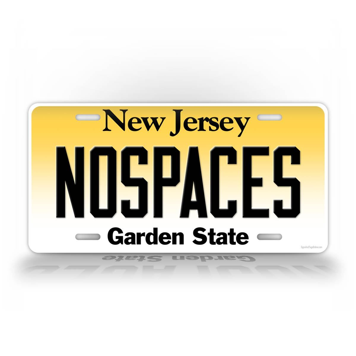 Customized New Jersey License Plate