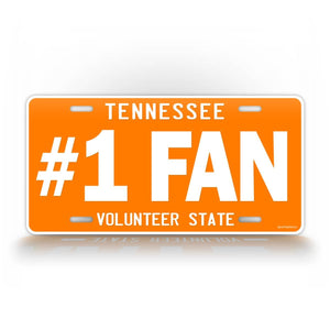 Orange Tennessee Collage Football #1 Fan License Plate
