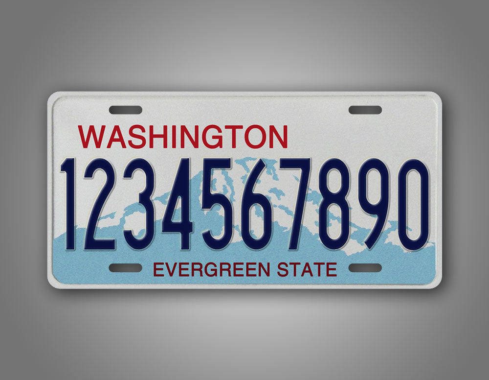 Any Text Washington State Calcine Plate