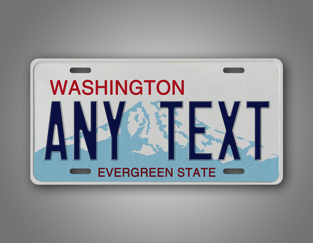 Personalized Novelty Washington State Auto Tag