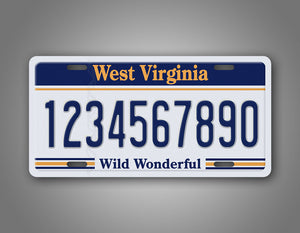 Any Text Novelty West Virginia License Plate