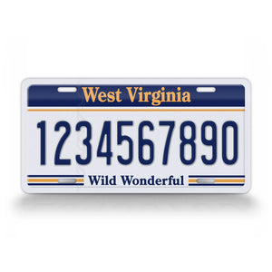 Personalized West Virginia Wild Wonderful License Plate