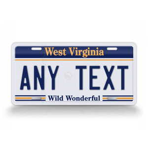 Custom West Virginia Any Text License Plate