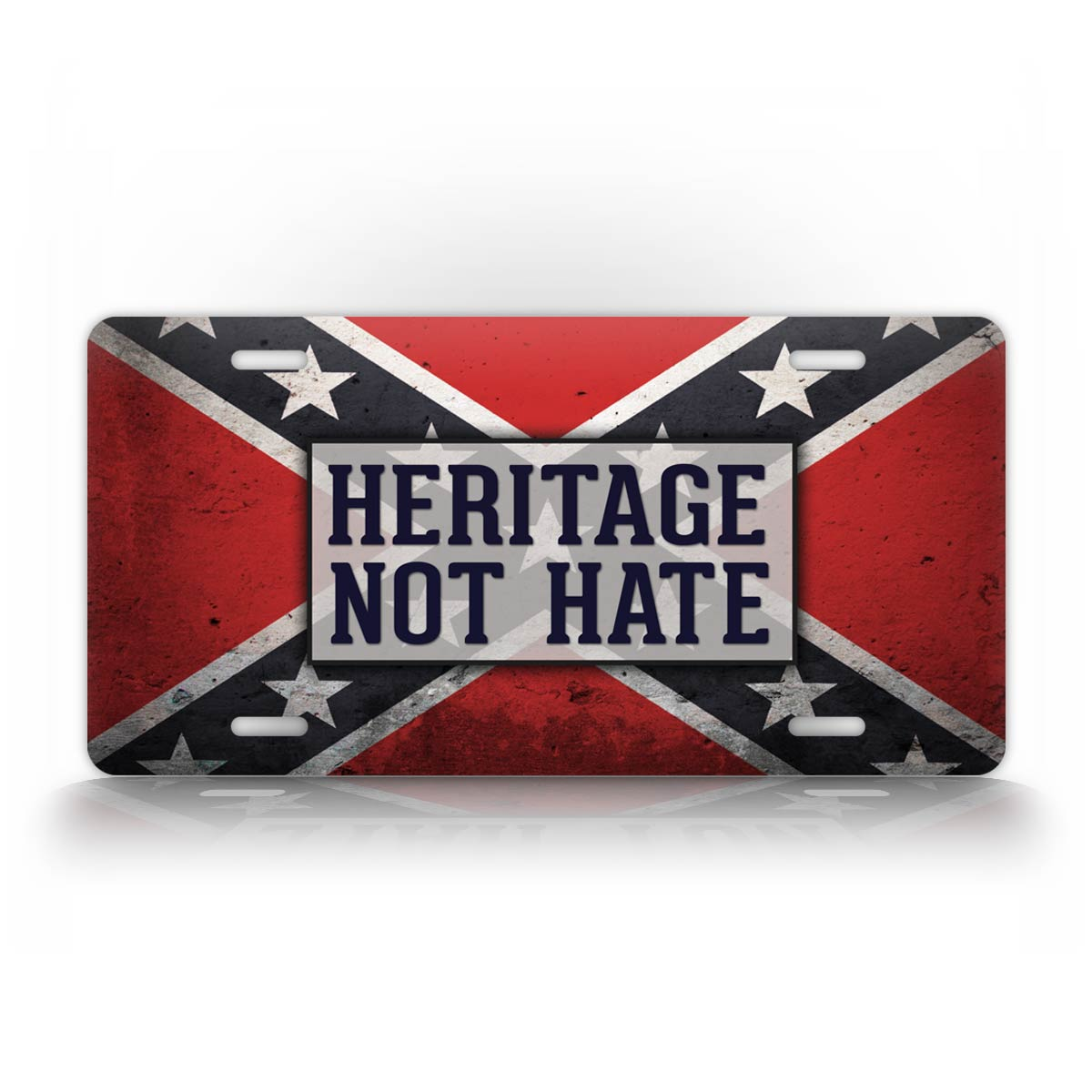 Heritage Not Hate Confederate Flag License Plate