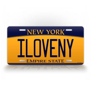 Custom New York Empire State License Plate Auto Tag