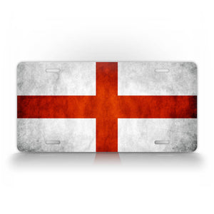 Textured St Georges Cross License Plate