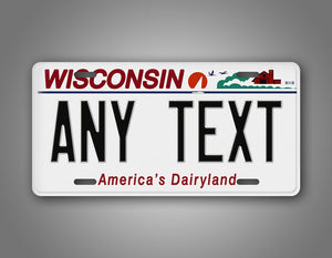 Custom Text Novelty Wisconsin State License Plate