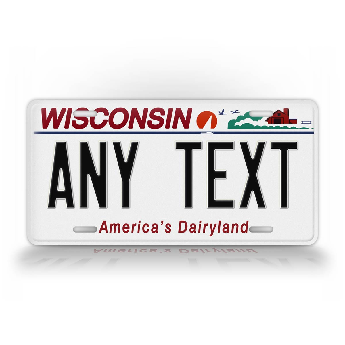 Custom Text Wisconsin State Novelty License Plate