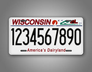Personalized Wisconsin State Auto Tag