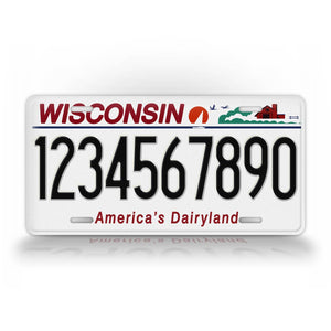Personalized Any Text Wisconsin State Auto Tag