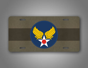US Air Force Patch WWII Army Air Corps Patch License Plate Auto Tag