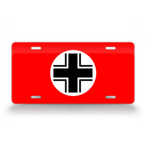 WWII German Vehicle Identification Flag License Plate