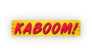 Yellow Kids Room Name Comic Style Any Text Street Sign