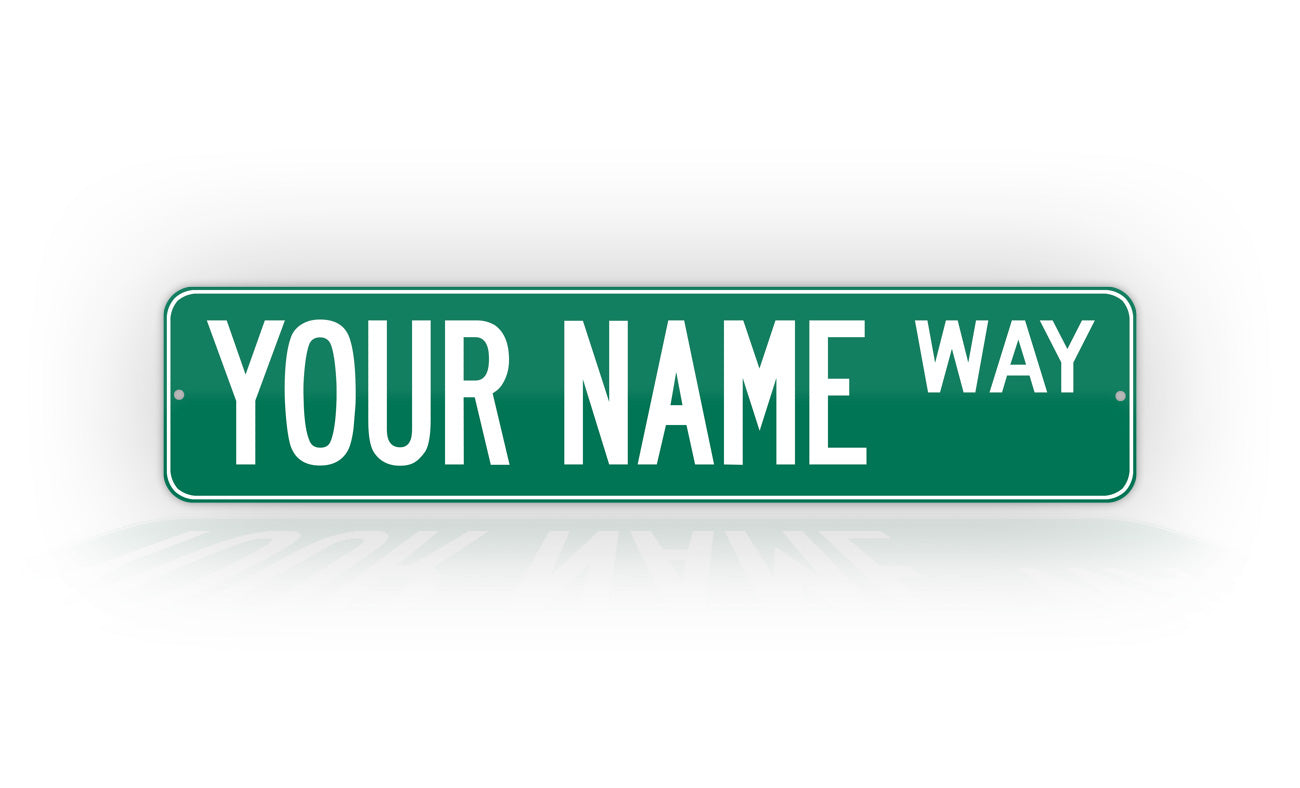 Personalized Custom Green Street Sign