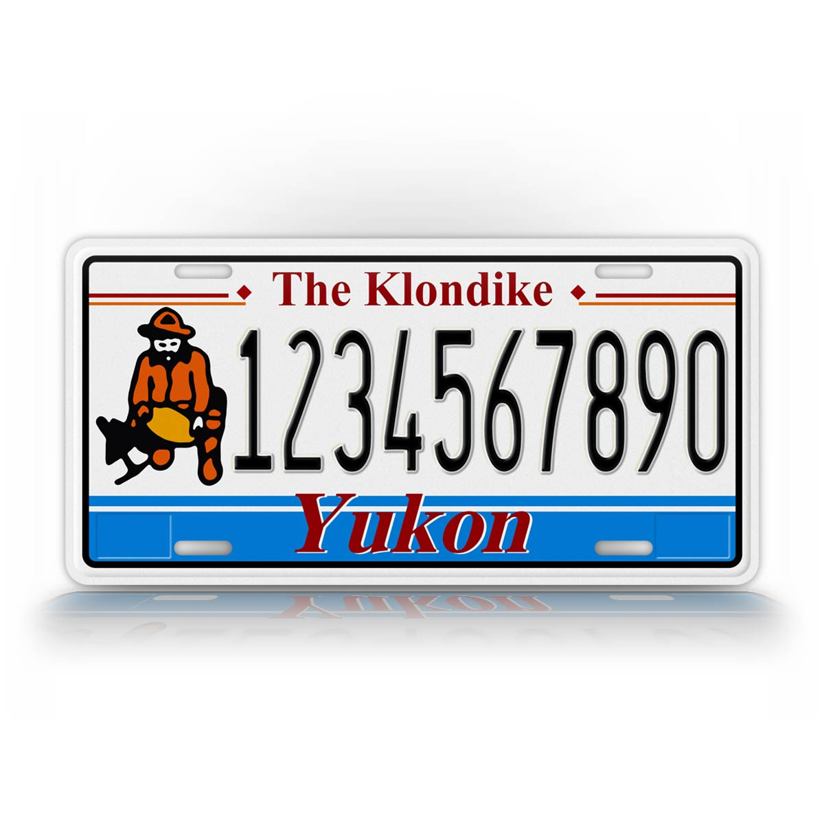Personalized Text Yukon Canada The Klondike License Plate