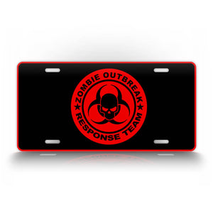 Red Zombies License Plate