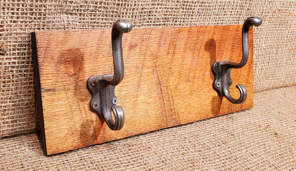 Wall Mounted Coat Rack with Classic Antique Iron Hooks