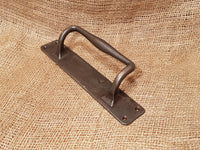 Heavy Duty Barn Door Handle on Back Plate - Natural