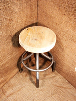 Tubular Adjustable Height Stool with top