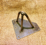 "Hairpin Leg Support 4"" Antique Iron 3 prong"