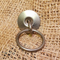 "Ring Pull Handle with Backplate 2"" Antique Iron"