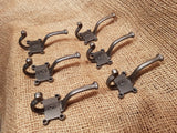 Retro Vintage Numbered 1- 6 Hat & Coat Hook Set