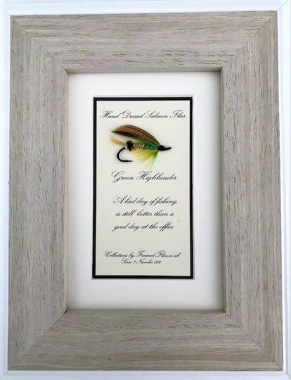 Salmon Frame & Fishing Phrase - Framed Flies.co.uk